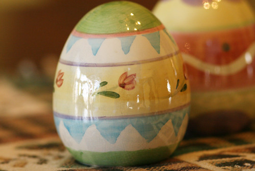 ceramic easter eggs by dognutmom.