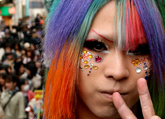 Harajuku Lover (vyxle) Tags: color japan glitter hair japanese tokyo 1 rainbow colorful dof bokeh makeup sparkle explore harajuku kawaii lover decora kowai yamamba crossplay yamanba hbw explore160 100strangers stranger1