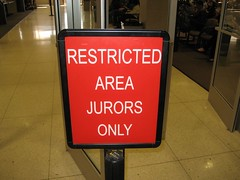 Restricted area, jurors only. (03/04/2008)