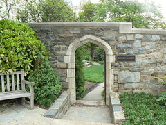 Entrance to Bishop's Garden at the National Cathedral