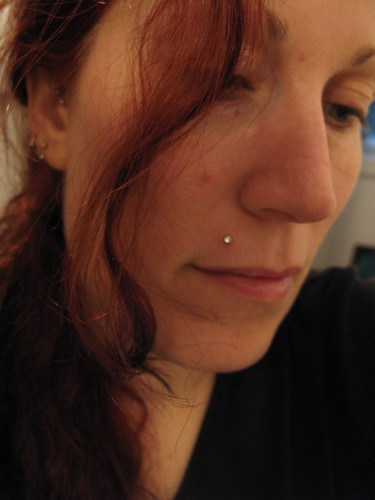 top lip piercings pictures. Upper lip? As in just a lip piercing on the top lip, or inside, or what?