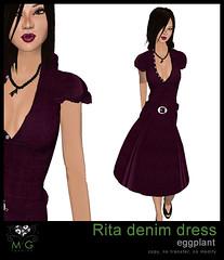 [MG fashion] Rita denim dress (eggplant)