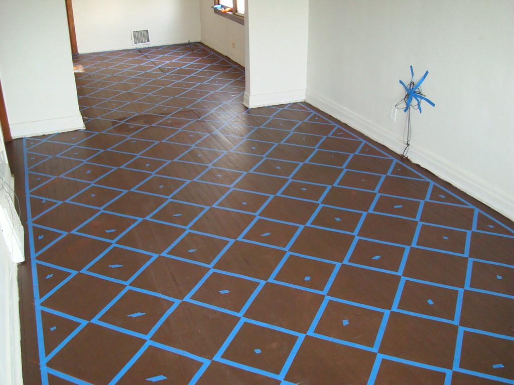 tile grid pattern in tape