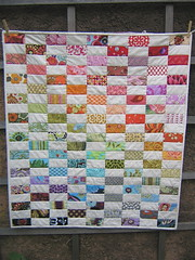 Colorway Quilt Done (Sew Katie Did) Tags: handmade fabric flannel amybutler michaelmiller babyquilt scrapquilt alexanderhenry heatherross babyshowergift metrosupialdesigns