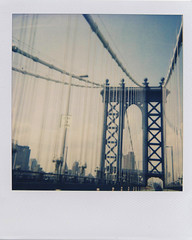 Manhattan Bridge (.onthemoon) Tags: manhattanbridge polaroid600