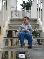 Sitting on the Vaillancourt Fountain