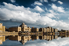 Waterworld (Philipp Klinger Photography) Tags: light sunset sea sky holland water netherlands architecture clouds reflections scheveningen den north hague haag philipp the waterworld klinger aplusphoto infinestyle dcdead