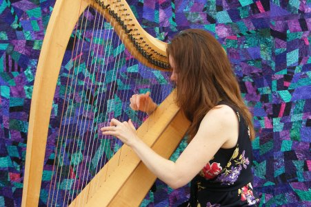 Harpist at Art Show