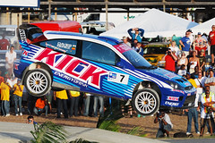 Steve Perez Air (Matt_Daniels) Tags: ford focus rally wrc barbados bushypark steveperez rallybarbados d40x 2008solrallybarbados