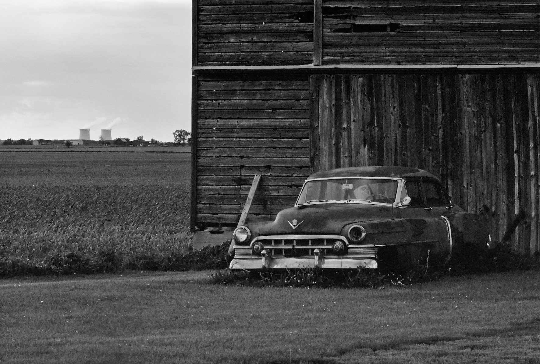 The Old Rusty Cadillac West of Rochelle, Illinois Illinois