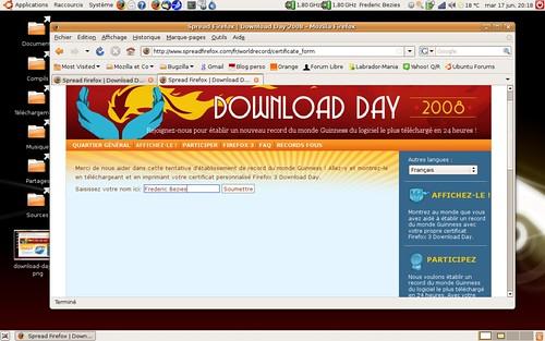 La page du certificat de participation