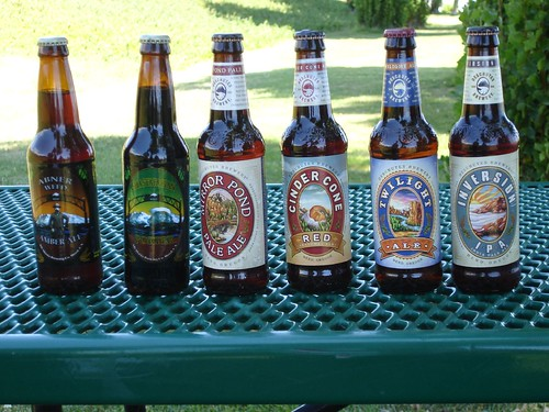 the selection of beers