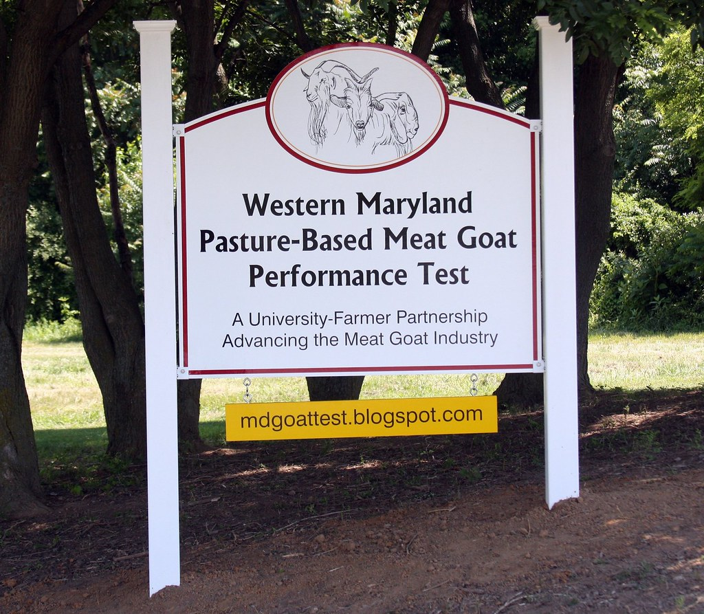 Sign at entrance to Western Maryland Research & Education Center