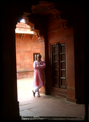 Thx to my 50 000 Flickr viewers...!!! (designldg) Tags: door people india selfportrait man architecture asia fatehpursikri kurta mughal uttarpradesh  saarc articulateimages hourofthesoul