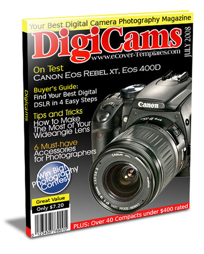 ezine cover action template- digital cameras