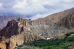 The warmth of peace in the cold desert ! (Lopamudra !) Tags: india mountain beauty architecture landscape design hp ancient peace searchthebest buddha structure soil monastery valley himalaya himachal hamlet spiti lopamudra dhankar abigfave anawesomeshot indianhimalayas flickrslegend betterthangood