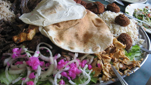 Family plate at Al-Ameer Restaurant