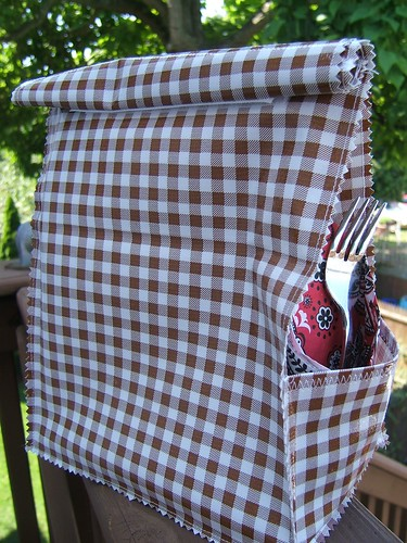 brown gingham lunchbag 001