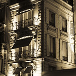 Façades at night