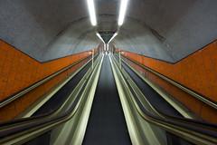 (arnd Dewald) Tags: light lamp underground subway licht essen metro escalator symme