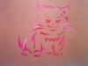 Cat Airbrush Tattoo