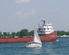 Wanna Race? (Old Top 40 DJ) Tags: boat ship sarnia porthuron stclaireriver slidr