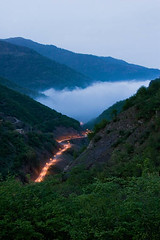 The Road To Massuleh (Ali Majdfar) Tags: sunset fog forest mountainroad gettyimagesmiddleeast