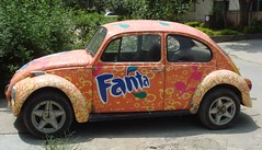 fanta & beetle (tango 48) Tags: pakistan green yellow wheels beetle bushes fanta volkswagon islamabad