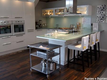 Ikea cuisines - Plan de travail cuisine en verre ...
