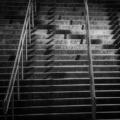 Climbing with shadows (LukeOlsen) Tags: nightphotography usa night oregon stairs portland shadows nocturnal railing nocturne lukeolsen