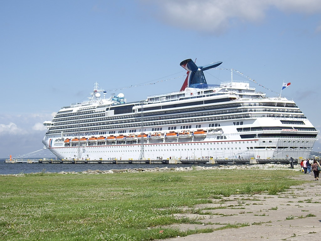 Carnival Splendor docked in Tallinn