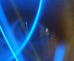 Seeing the Light (binaryCoco) Tags: longexposure blue light lightpainting eye closeup painting licht blau makro auge lichtmalerei malerei cmwd cmwdblue colourartaward