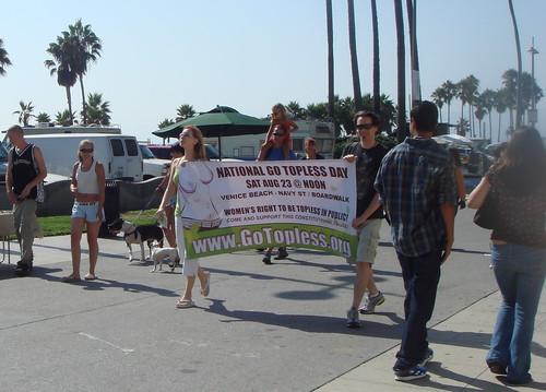 Go Topless pre-protest parade