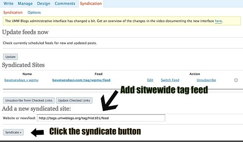 Adding Sitweide tag feed to FeedWordPress