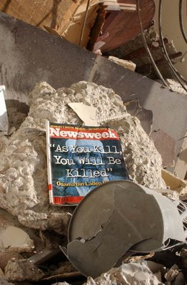 Picture by Robert Kasca, taken on the rubble after the bombing of the UN HQ in Baghdad