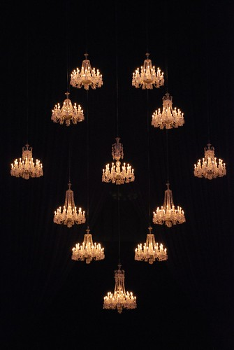 Baccarat Chandeliers, straight-on