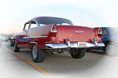 55 Chevy - cool spoon ((The) Appleman) Tags: cruise red classic chevrolet 1955 60s rear chevy 50s fiftyfive doublenickle