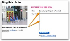 Blogging from Flickr