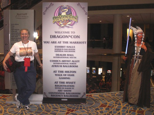 Elissa Malcohn at DragonCon with Jedi Knight