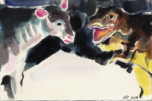 Dinosaur and Cow