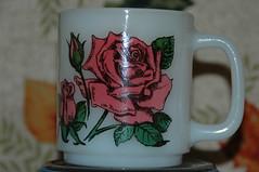 Pink Rose by Glasbake (the_robins.nest) Tags: pink rose mug glasbake