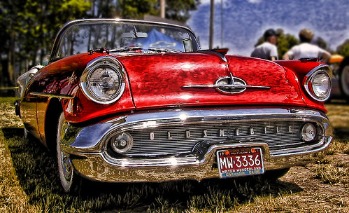 1957 Oldsmobile in the Sun