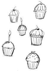cupcake sketches