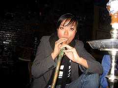 mars gets her hookah on. by Chelsa Skees