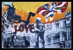 Love (Stefano Pizzetti) Tags: españa graffiti spain bilbao explore ikurriña euskalherria euskadi spagna stefano abertzale pizzetti stefanopizzetti