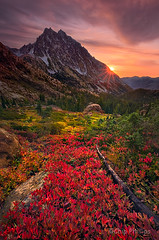 Mount Stuart Sunburst (Chip Phillips) Tags: landscape photography washington state phillips lakes stuart basin mount alpine chip headlight region soe naturesfinest overtheexcellence vosplusbellesphotos