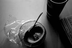 notes (box of lettuce) Tags: bw kitchen canon notebook eos rebel tea spoon bowl best grapefruit goodtaste newcamera 2008 xsi cellophane delish kitchenlight canoneos450d canonrebelxsi