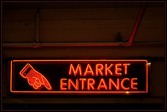 Pike Place Market, Enter (R. Drozda) Tags: seattle sign washington neon pikeplacemarket drozda