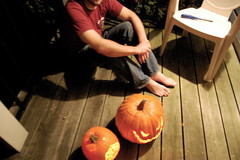t + pumpkins (sarahreck) Tags: porchpumpkins tylerwasontheporch withourpumpkins