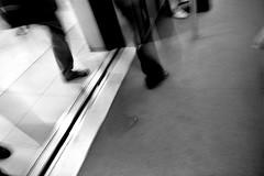 Atlanta (Peter Gutierrez) Tags: atlanta light shadow bw usa white black film public america train ga dark georgia subway us photo airport noir atl south united transport rail terminal east southern peter internat